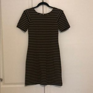 French Connection - Black & Olive Dress